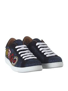 Dsquared2 - Blue Santa Monica sneakers with patches