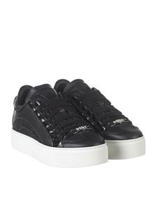Dsquared2 - Black leather sneakers