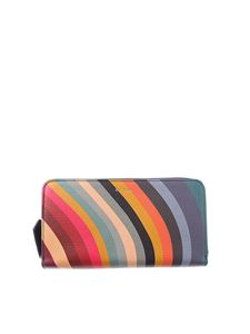 Paul Smith - Multicolor Swirl striped wallet