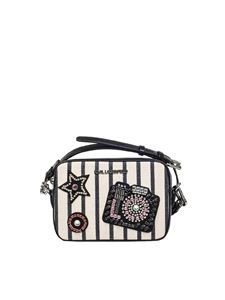 Karl Lagerfeld - Canvas Klassik Sparkle bag with patches