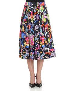 Etro - Floral printed cotton skirt