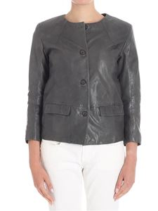 Bully - Anthracite leather jacket