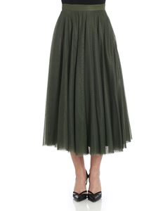 KI6? Who are you? - Green pleated skirt