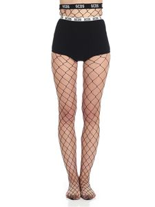 GCDS - Black fishnet tights