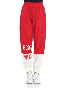 GCDS - Red and white pants with logo