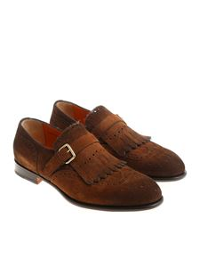 Santoni - Brown Single Strap shoes