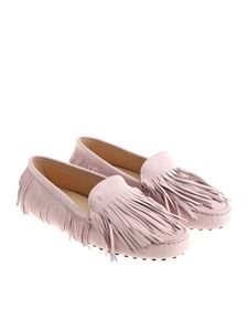 Tod's - Pink fringed moccasins