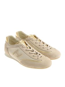 Hogan - Beige and golden Olympia sneakers