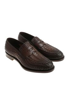 Santoni - Dark brown leather shoes