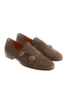 Santoni - Light brown Monk Strap shoes