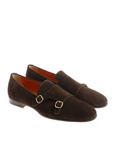 Santoni - Brown Monk Strap shoes