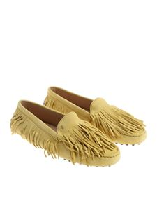 Tod's - Ocher color fringed moccasins