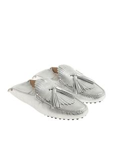 Tod's - Silver mules with tassels