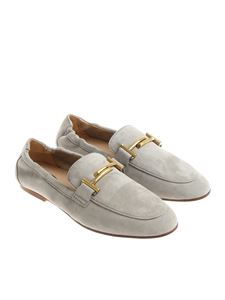 Tod's - Gray suede loafers with horsebit