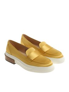 Tod's - Yellow satin moccasins