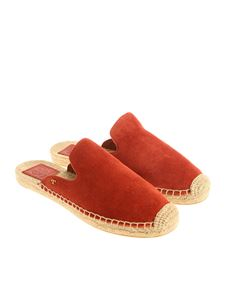 Tory Burch - Red suede mules