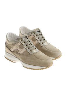Hogan - Taupe Interactive sneakers