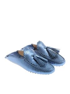 Tod's - Blue laminated mules
