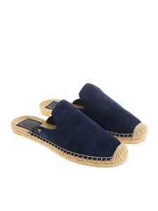 Tory Burch - Blue mules with rope inserts