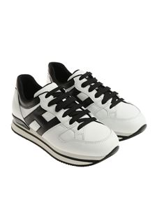 Hogan - White and black H222 sneakers