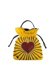 les petits joueurs - Yellow Big trilly hear cupid bag
