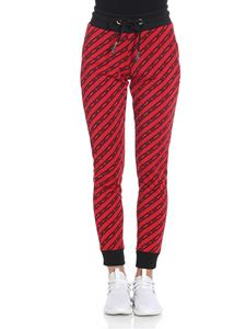GCDS - Red striped pants with logo