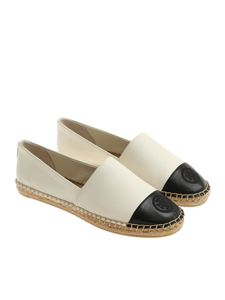 Tory Burch - White and black Mestico espadrilles