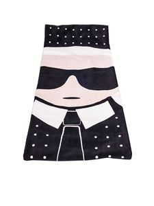 Karl Lagerfeld - Black Ikonik beach towel