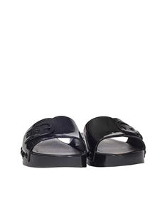 Melissa - Black Belleville slides