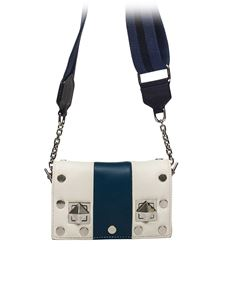 Sonia Rykiel - White and blue Baby Niky bag