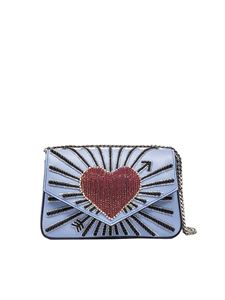 les petits joueurs - Light-blue Ivy heart cupid shoulder bag