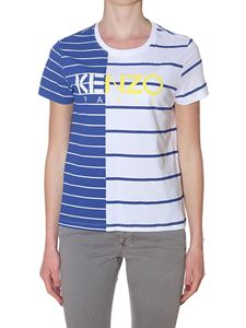 Kenzo - White and blue Stripe Paris t-shirt
