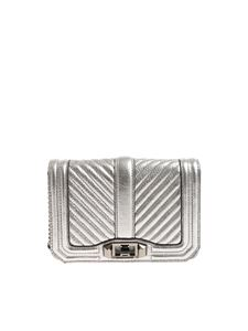 Rebecca Minkoff - Laminated silver Love Crossbody bag