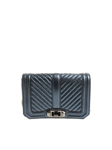 Rebecca Minkoff - Laminated blue Love Crossbody bag