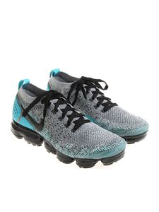 Nike - Grey and light blue Air vapormax flyknit 2 sneakers