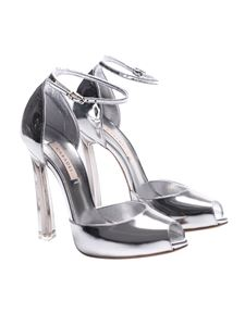 Casadei - Silver open toe sandals