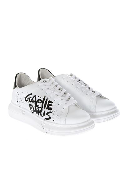 White leather sneakers Gaëlle Paris
