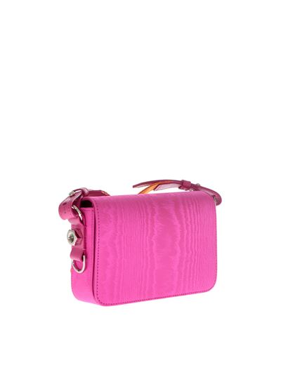 Off-white Fuchsia moire mini flap bag aNX4cP