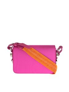 Off-White - Fuchsia moire mini flap bag