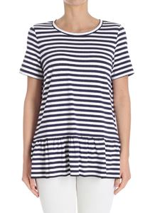 Max Mara Studio - White and blue Fausto T-shirt