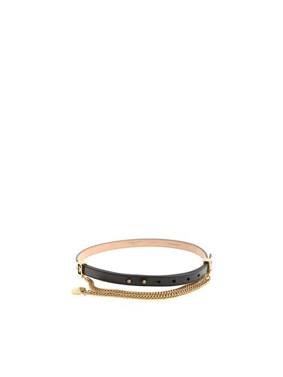 Givenchy - Black double G leather belt