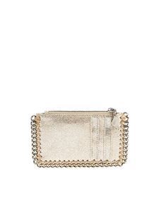 Stella McCartney - Silver and beige Falabella card holder