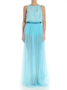 Elisabetta Franchi - Turquoise tulle and sequins dress