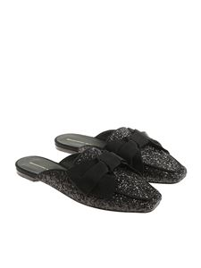 Ermanno Scervino - Black glittered mules