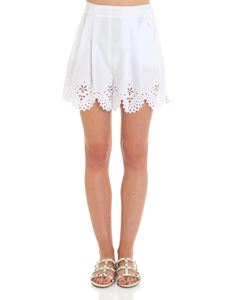 Ermanno Scervino - White Sangallo lace shorts