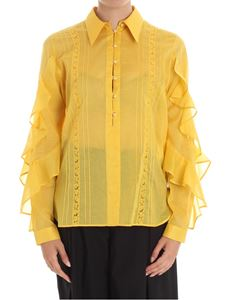 N° 21 - Mustard color blouse with pearly buttons