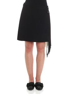 Givenchy - Black skirt with pleated insert