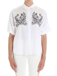 Etro - White embroidered over fit shirt