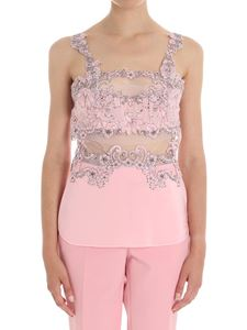 Ermanno Scervino - Pink top with floral embroidery