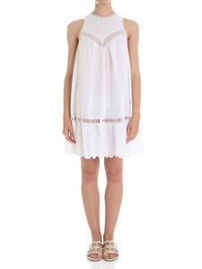 Ermanno Scervino - White sangallo lace short dress